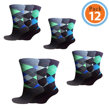 Soft Cotton Argyle Socks - Mens Cotton Socks | Mens Casual Socks | Mens Aithletic Socks | Argyle Socks | Mens Sock Packs On SALE