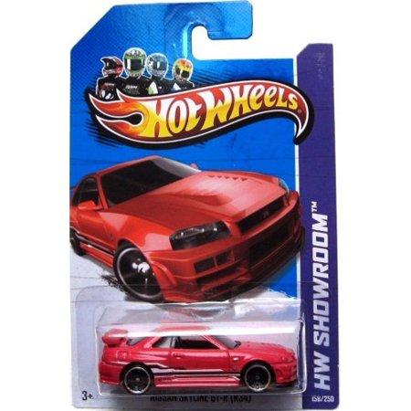 NISSAN SKYLINE GT-R Hot Wheels 2014 HW Showroom Series Red Nissan Skyline GTR (R34) 1:64 Scale Collectible Die Cast Metal Toy Car Model