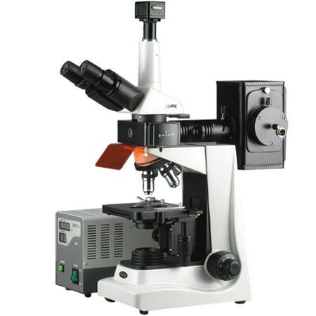 Amscope 40X 1600X Epi Fluorescence Trinocular Microscope   8Mp Digital Camera