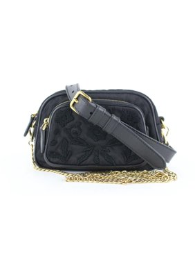 71ca39c7fd9c0a Product Image Quilted Embroidery Chain 2way Fanny Pack Belt 13prz1113 Black  Nylon Cross Body Bag. Prada