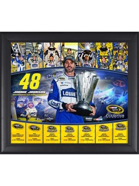 """Jimmie Johnson Fanatics Authentic Framed 15"""" x 17"""" 2016 Sprint Cup Champion 7-Time Champion Collage - No Size"""