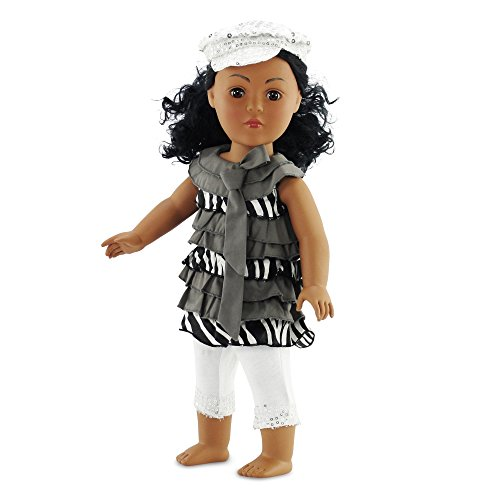 "18 Inch Doll Clothes Ruffled Shirt & Leggings Outfit | Fits 18"" American Girl Dolls 