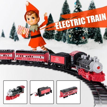 Classical Electric Remote Control Steam Smoke Train Set Model Toy With Real Smoke, Music and Lights Railway Car Set Gift For Kids