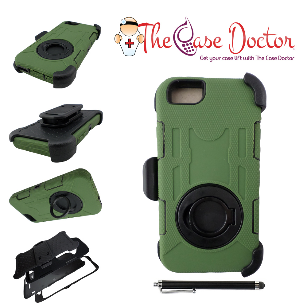 TCD iPhone 5 5S Industrial Heavy Duty Belt Clip Case Screen Protector & Stylus