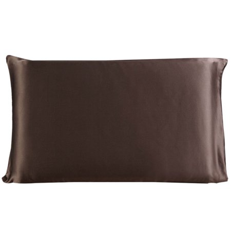 100 Mulberry Silk Fabric Pillow Case Pillowcase Coffee