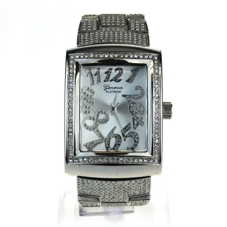 Womens Luxury Classic Rectangular Bling Analog Quartz Wrist Watch Quartz Bling Watch