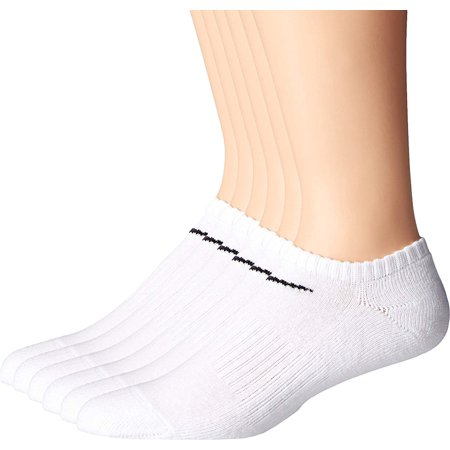 Nike Unisex Performance Cushion No-Show Socks with Bag (6 Pairs), White /