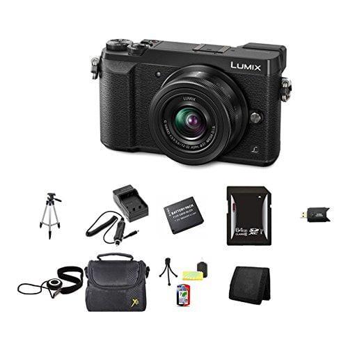 Panasonic Lumix DMC-GX85 Digital Camera w/12-32mm Lens (Black), 64GB Memory, Cap Keeper, Memory Card Wallet, Memory Card Reader, Camera Accessory Kit, Rapid Quick-Charger (DMC-GX85KK) and More.