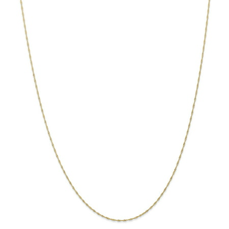 18 Singapore Chain Necklace (14kt Yellow Gold 1mm Link Singapore Chain Necklace Carded 18 Inch Pendant Charm Fine Jewelry Ideal Gifts For Women Gift Set From)