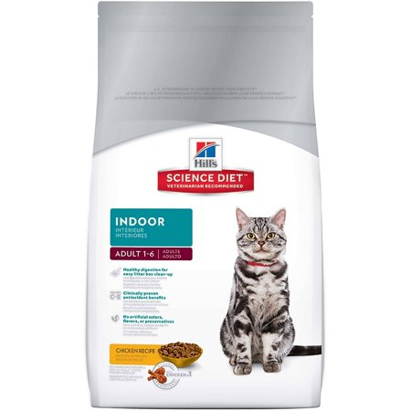Hill's Science Diet Adult Indoor Chicken Recipe Dry Cat Food, 15.5 lb bag