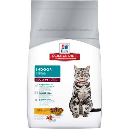 Hill's Science Diet Adult Indoor Chicken Recipe Dry Cat Food, 15.5 lb bag