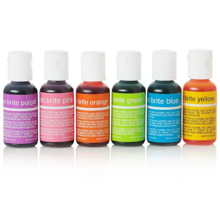 Chefmaster Neon Food Coloring, 6-Pack Neon Food Colors in ...