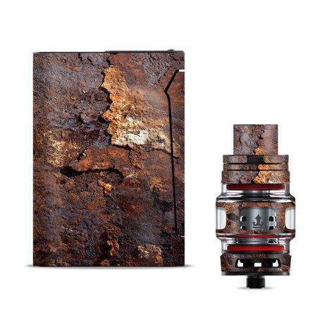 Skin Decal for Smok V-Fin 160w Vape / Rusted Away Metal Flakes of Rust (Metal Flake)