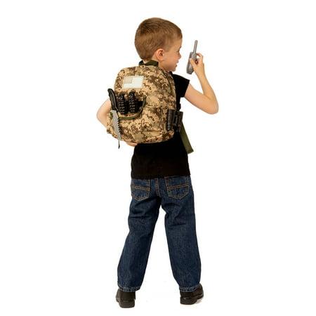 Kids Army Backpack Play Set - Halloween Playsuit