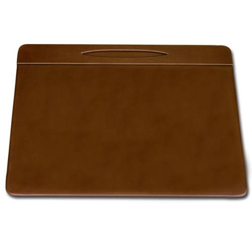 Dacasso Rustic Brown Leather Conference Table Pad with Pen Well, 17 by 14-Inch
