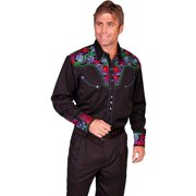 Scully Western Shirt Mens L/S Snap Embroidered 4XLT Blue P-634CX