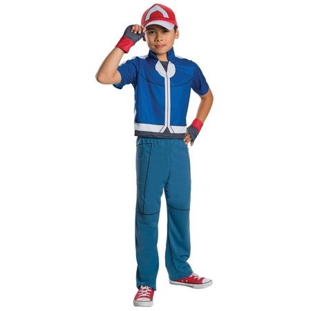 Pokemon - Ash Ketchum Child Costume - Medium - Ash Pokemon Trainer Costume