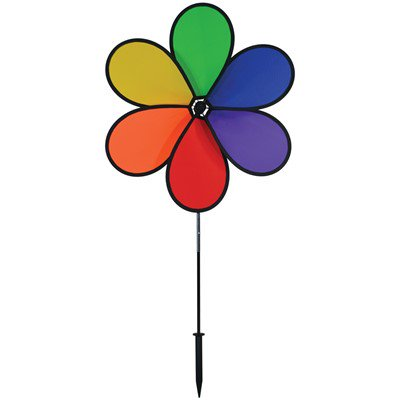 Large Pinwheels (In the Breeze 30 Inch 6-Petal Rainbow Flower Spinner - Large Wind Spinner for your Yard or)