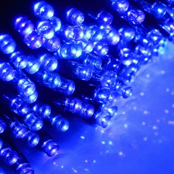 15m 100-LED Solar Powered Fairy String Light Solar Panel Random Shape Blue by