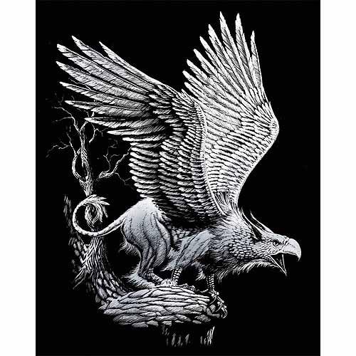 """Silver Foil Engraving Art Kit 8/""""X10/"""" Dragon Tower 090672066831"""