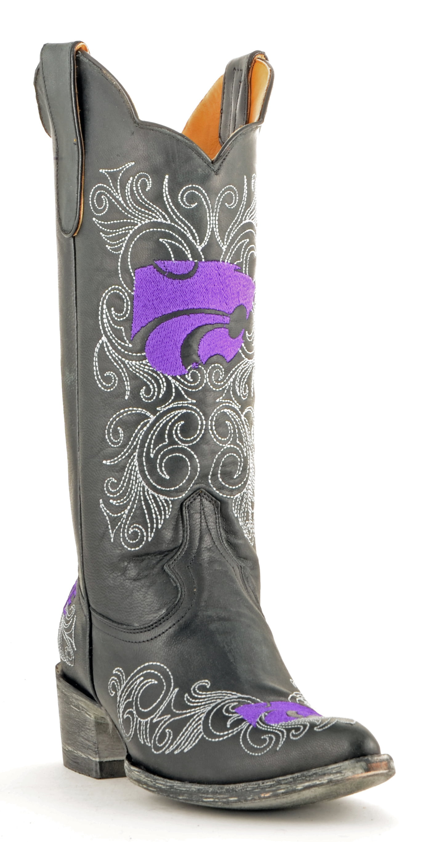 "Gameday Boots Womens 13"" Tall Leather Kansas State Cowboy Boots by GameDay Boots"