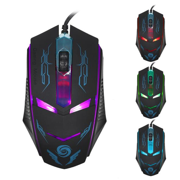 DZT1968 3200 DPI LED Optical USB Wired Gaming Mouse Mice For PC Laptop