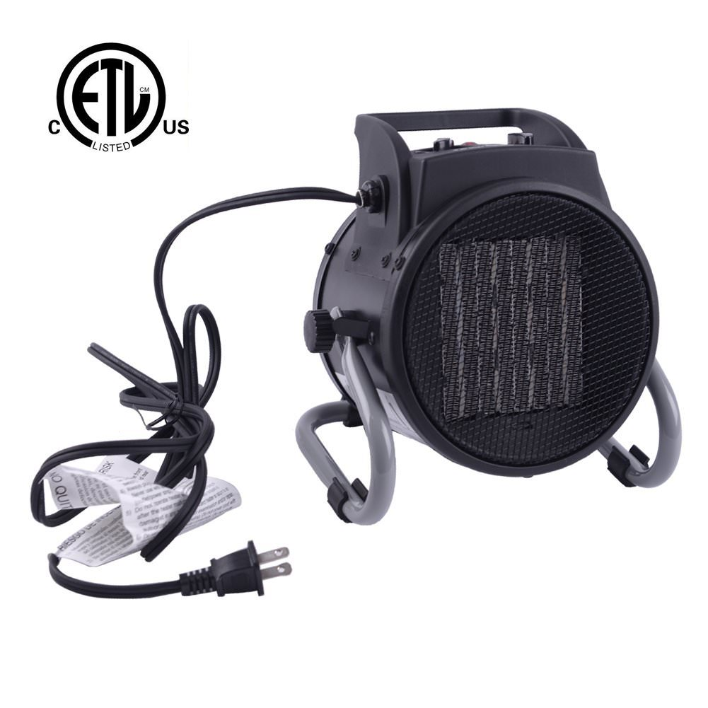DAHTEC Fan Forced Ceramic Portable Electric Heater With Adjustable  Thermostat 20/750/1500W Mini