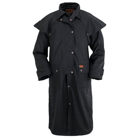 Outback Trading Duster Mens Low Rider Waterproof Oilskin Snaps 2042 (Mens Duster Coat)