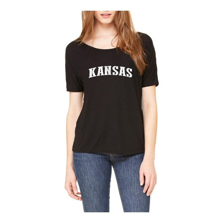 Kansas State Flag Womens Shirts Slouchy