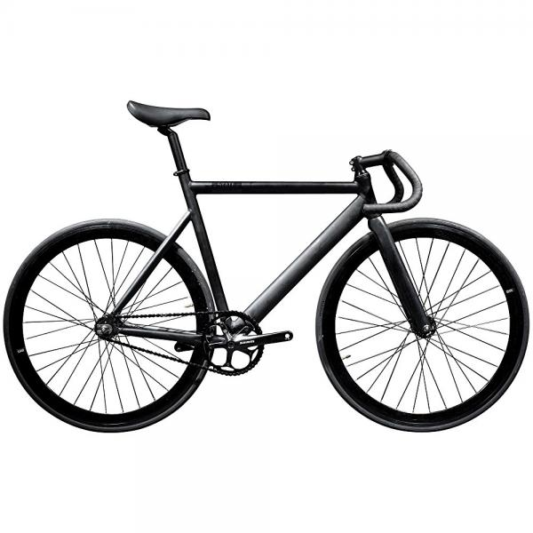 state bicycle black label 6061 aluminum fixed gear bike, 55cm/medium, matte black