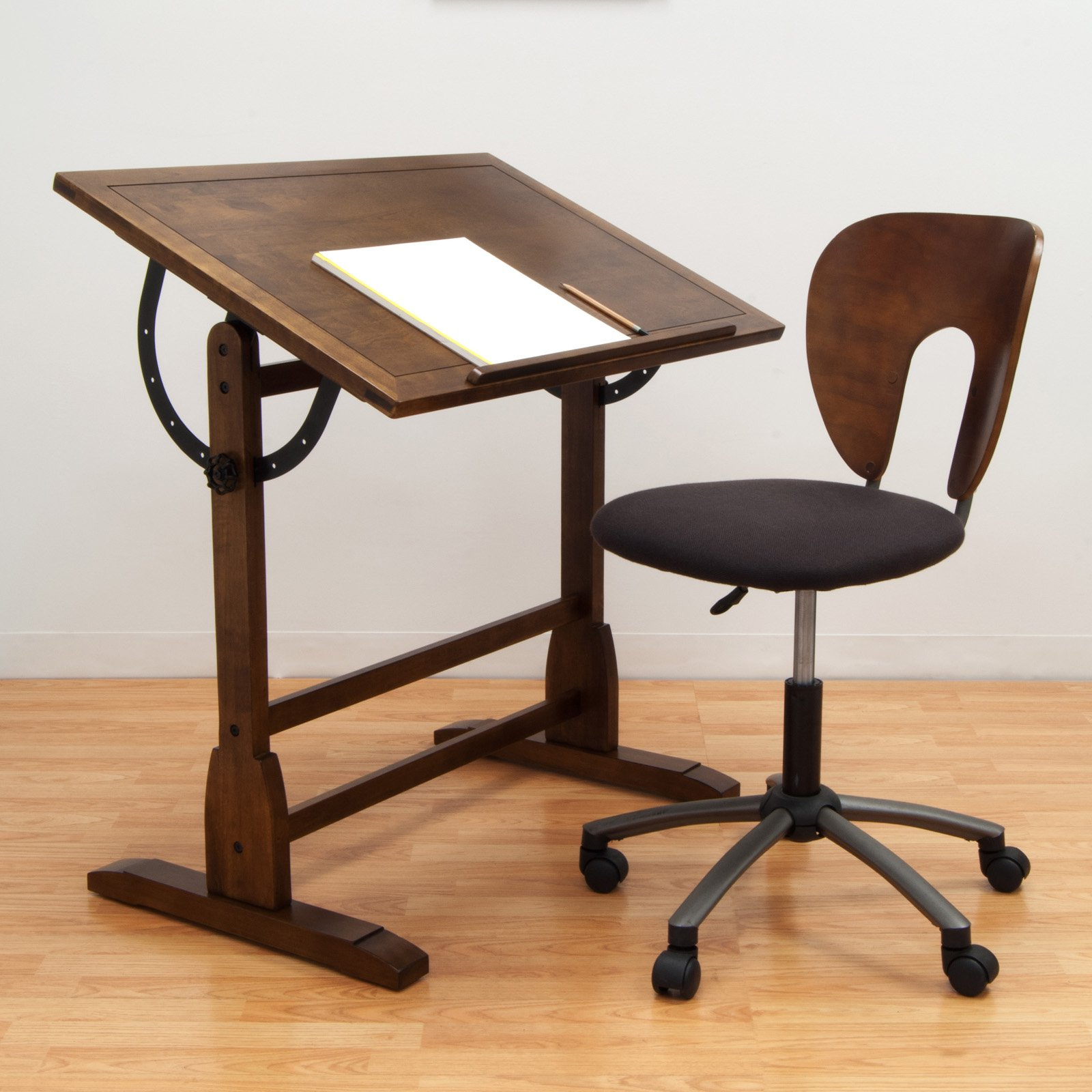 rustic oak vintage drafting table and chair set walmartcom: heater table aaad