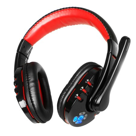 Bluetooth Stereo Headsets Microphone (Bluetooth Over Ear Headphones, TSV Wireless Gaming Stereo Headsets with Mic for PC, Cell Phones, Office, Wireless)