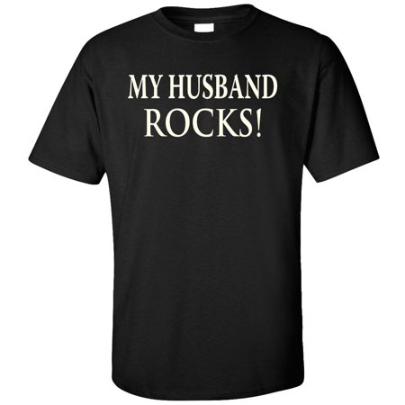 Husband Rocks (My Husband Rocks Adult T-Shirt )