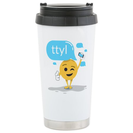 Facet Tumbler (CafePress - Emoji Smiley Face - Stainless Steel Travel Mug, Insulated 16 oz. Coffee Tumbler)