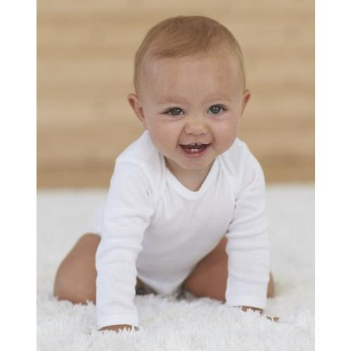Unisex Baby Round Neck Long-Sleeve Pure Color Climbing Clothes Cute Puppy Face Crawling Suit