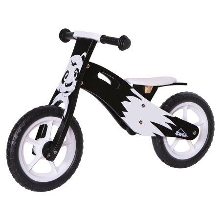 KOBE Wooden Balance Running Bike - Birch Wood No Pedals - Perfect Training Bike For Toddlers & Kids - Panda - image 2 de 11
