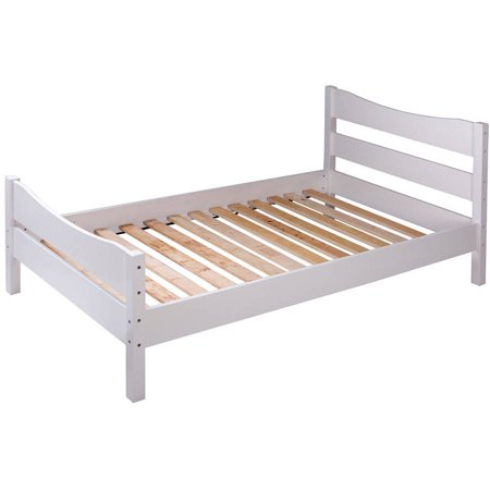 merax wood twin platform bed frame mattress foundation with headboard and wooden slat support. Black Bedroom Furniture Sets. Home Design Ideas