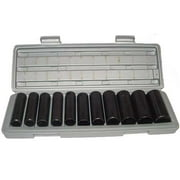 "12 Piece Sae Deep Air Impact Socket Set 1/2"" Standard"