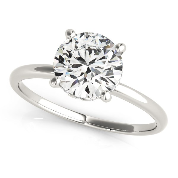 14K White Gold Prong Set Round Diamond Engagement Ring (2 ct. tw.) Size - 5.5
