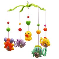 Mobile Music Bed Bell Set with Funny Fish Crab and Duck Baby Crib Educational Toy (Random Color)