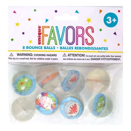 Animal Bouncy Ball Party Favors, 8ct