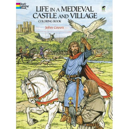 Dover History Coloring Book: Life in a Medieval Castle and Village Coloring Book (Paperback)