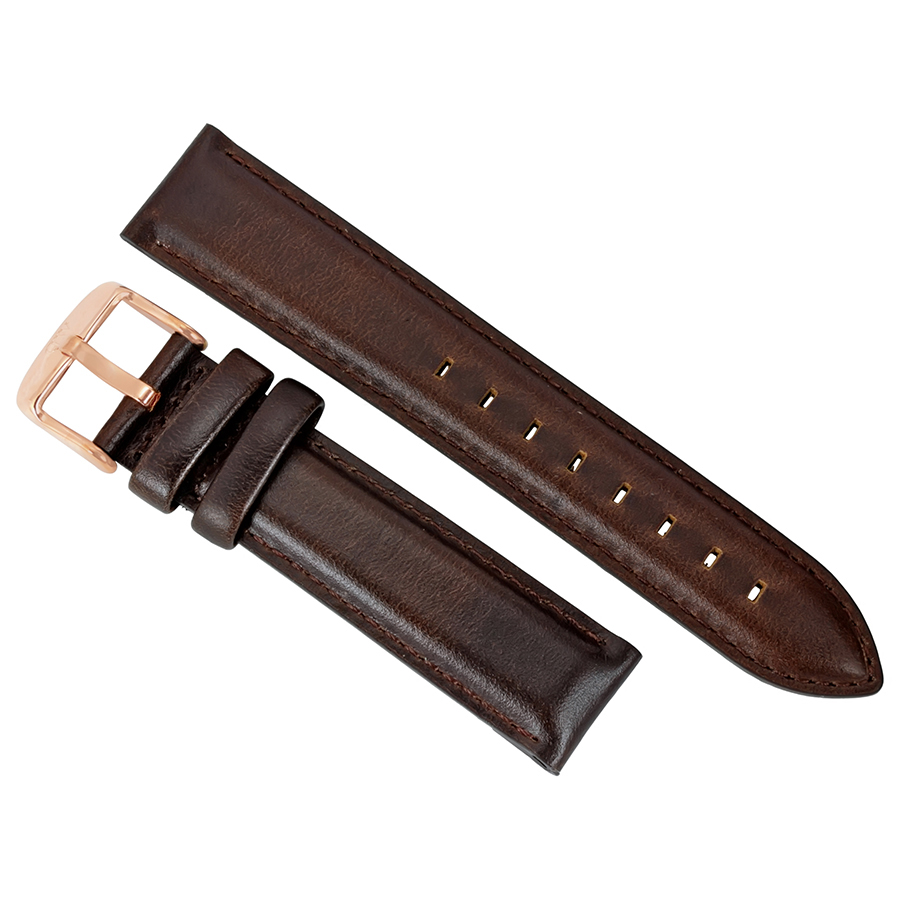 Daniel Wellington Dapper Bristol Brown Leather Watch Band Strap 1203DW