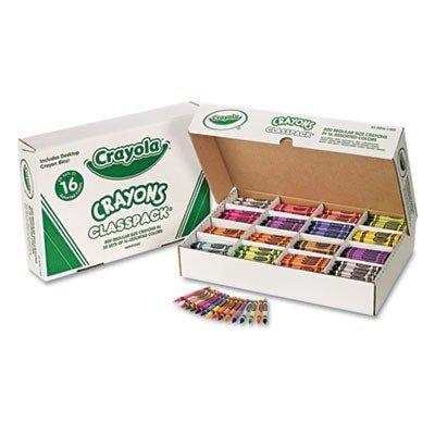 crayola crayon classpack, regular 3-5/8x5/16, 800/bx, 16 asst. clrs