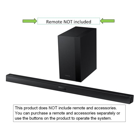 Samsung 2.1 Channel 290-Watt Bluetooth Audio Soundbar with Wireless Active Subwoofer, 3D Sound Plus and Crystal Sound Pro Technology, Black, HW-H450 (Refurbished)
