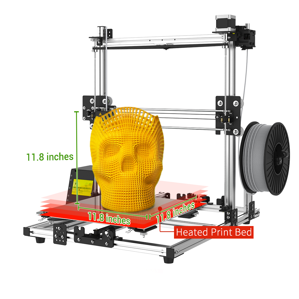 Creality CR-10S 3D Printer by MKK Aluminum with Upgraded Dual Leading Screw Heated Bed High-Precision Package Contain Free Testing Filament+Free Tool Set (CR10S Orange)