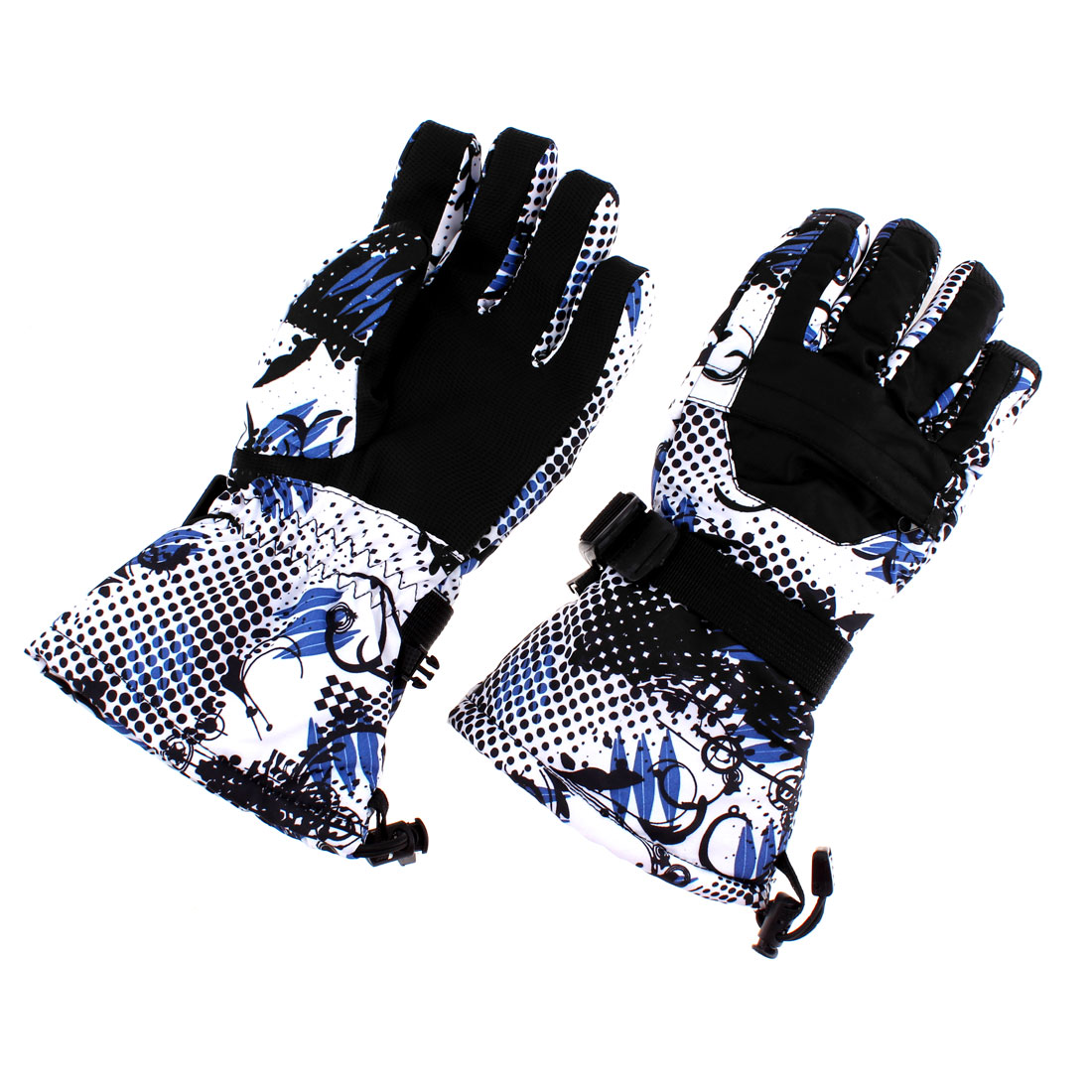 XL Winter Waterproof Worm Men Snow Skiing Full Finger Gloves Black Pair