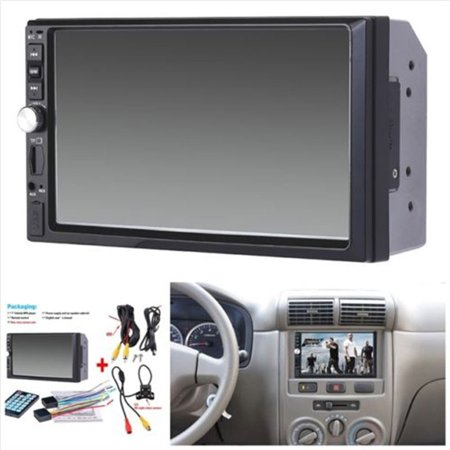 7-inch HD Bluetooth Player Handsfree Bluetooth Music Touch Screen Player Support Connected Camera Support DIS, MP3, WMA, ACC, OGG, WAV, RA, AC3, MP2, AMR, and More