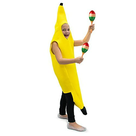Boo! Inc. Cabana Banana Children's Halloween Food Dress Up Party Roleplay Costume (Halloween Costume Ideas White Hair)
