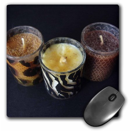 3dRose Candles In The Wind, Mouse Pad, 8 by 8 inches